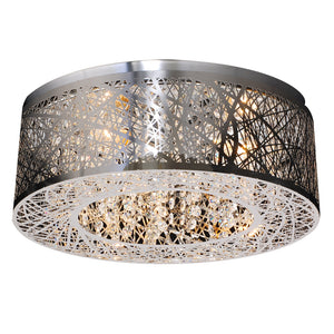PLC Lighting 77747 PC Nest Collection 3 Light Ceiling in Polished Chrome Finish