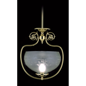 1 Light Polished Brass Chancery Pendant by Framburg F-7801 PB