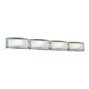 PLC Lighting 7848 PC Millennium Collection 4 Light Vanity in Polished Chrome Finish