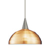 Felis Copper Bronze Pendant with Brushed Nickel Canopy