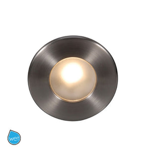 LEDme Full Round Step and Wall Light in Brushed Nickel