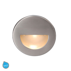 LEDme Round Step and Wall Light in Brushed Nickel