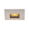 LEDme Horizontal Amber Step and Wall Light in Brushed Nickel