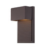 Hiline 8in LED Outdoor Wall Light 3000K in Bronze