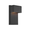 Hiline 8in LED Outdoor Wall Light 3000K in Black