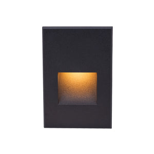 LEDme Vertical Amber Step and Wall Light in Black