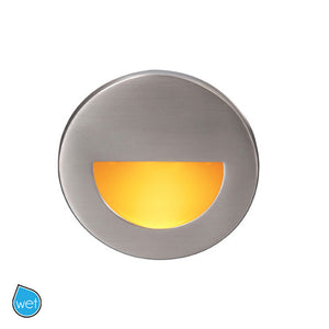 LEDme Round Amber Step and Wall Light in Brushed Nickel