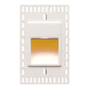 LEDme Vertical Amber Trimless Step and Wall Light in White