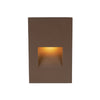 LEDme Vertical Amber Step and Wall Light 277V in Bronze