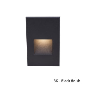 LEDme Vertical Step and Wall Light 277V Blue in Black