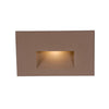 LEDme Horizontal Step and Wall Light 120V Red in Bronze