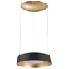 Gilt LED Chandelier 3000K in Black with Gold Leaf