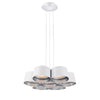 Marimba 18in LED Chandelier 3000K in White with Silver Leaf