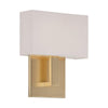 Manhattan 7in LED Wall Sconce 2700K in Brushed Brass