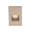 LEDme Vertical Step and Wall Light 277V Red in Brushed Nickel