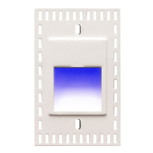 LEDme Vertical Blue Trimless Step and Wall Light in White