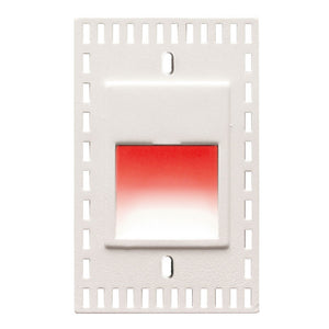 LEDme Vertical Red Trimless Step and Wall Light in White