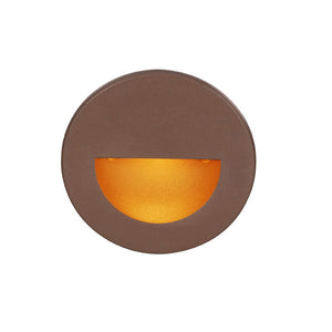 LEDme Round Amber Step and Wall Light in Bronze