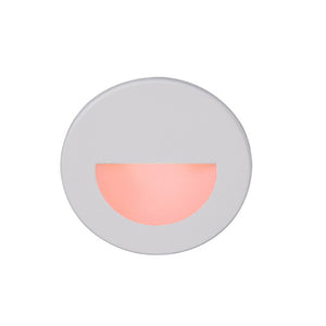 LEDme Round Red Step and Wall Light in White