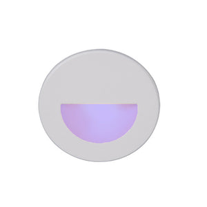 LEDme Round Blue Step and Wall Light in White