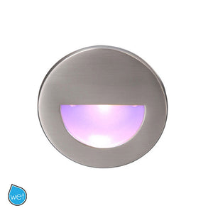 LEDme Round Blue Step and Wall Light in Bronze