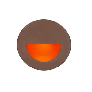 LEDme Round Red Step and Wall Light in Bronze