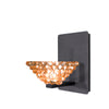 Giselle LED Wall Sconce with Champagne Diamond Crystal in Rubbed Bronze
