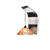 Giselle LED Pendant Wall Sconce with Champagne Diamond Crystal in Chrome