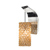Haven Pendant Wall Sconce with Champagne Diamond Glass in Chrome