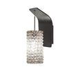 Haven LED Pendant Wall Sconce with White Diamond Glass in Rubbed Bronze