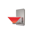 Jill LED Wall Sconce with Red Glass in Brushed Nickel