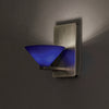 Jill LED Wall Sconce with Blue Glass in Brushed Nickel