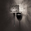 Mini Haven LED Torch Wall Sconce with Black Ice Crystal in Chrome