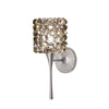 Mini Haven LED Torch Wall Sconce with Black Ice Crystal in Brushed Nickel