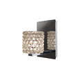 Mini Haven LED Wall Sconce with White Diamond Crystal in Chrome