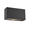Rubix Energy Star LED Rectangular Up and Down Wall Light in Black