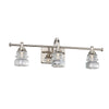 Rondelle LED 3 Light Bathroom Vanity & Wall Light 3000K in Polished Nickel