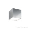 Bloc LED Outdoor Up or Down Wall Light 3000K in Brushed Aluminum