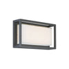 Framed 14in LED Outdoor Wall Light 3000K in Bronze