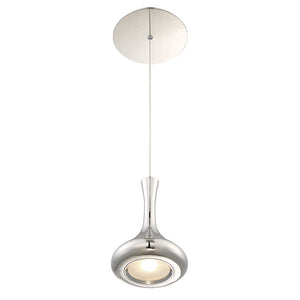 Acid LED Flat Bottom Pendant with Canopy 3000K in Polished Nickel