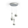 Acid LED 3 Light Round Chandelier 3000K in Polished Nickel