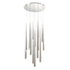 Cascade LED 15 Light Crystal Round Chandelier 3500K in Polished Nickel