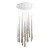 Cascade LED 21 Light Crystal Round Chandelier 3500K in Polished Nickel