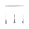 Hookah LED 3 Light Linear Chandelier 3000K in Polished Nickel