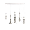 Hookah LED 5 Light Linear Chandelier 3000K in Polished Nickel