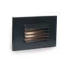LED Low Voltage Horizontal Louvered Step and Wall Light 3000K in Black