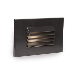 LED Low Voltage Horizontal Louvered Step and Wall Light Amber in Bronze