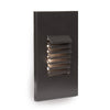 LED Low Voltage Vertical Louvered Step and Wall Light Amber in Bronze