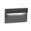 LED Low Voltage Horizontal LED Low Voltage Step and Wall Light 2700K in Black