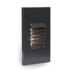 LED Vertical Louvered Step and Wall Light 120V Amber in Black